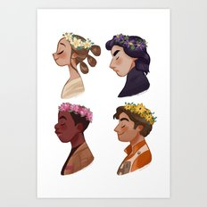 Flower Set Art Print