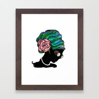 Goggley Girl Framed Art Print