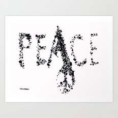 be peace Art Print