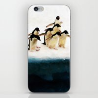The Penguin Party - Painting Style iPhone & iPod Skin