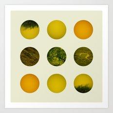 Earth Dot Pattern Art Print