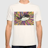 Happiest Whale Mens Fitted Tee Natural SMALL
