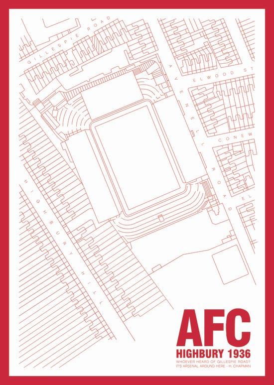 Highbury - It's Arsenal Around Here Art Print