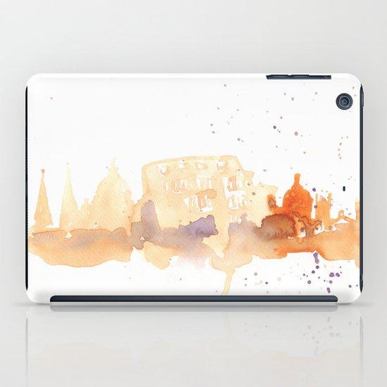Watercolor landscape illustration_Rome - Colosseum iPad Case