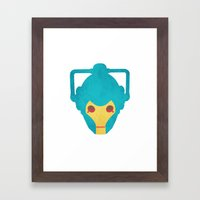 Colorful Cyberman Doctor Who Framed Art Print