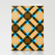 Square Pattern Serie 1 Y… Stationery Cards
