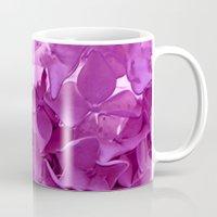 through the purple hydrangea Mug