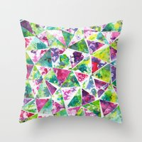 COLLAGE LOVE: Funky Triangles Throw Pillow