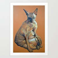 Mad Catter Art Print