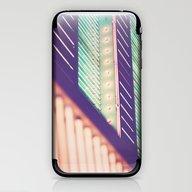 Turquoise Neon iPhone & iPod Skin