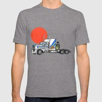 No Trouble In Little Jap… Mens Fitted Tee Tri-Grey SMALL
