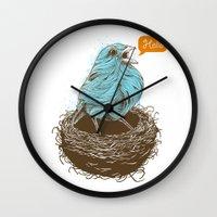 Twisty Bird Wall Clock