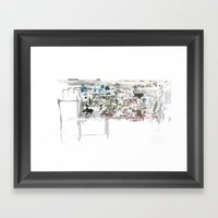 take a breath [ABSTRACT]  Framed Art Print