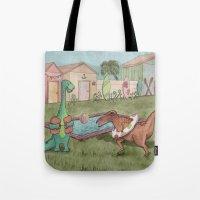 Dino Swim Party Tote Bag