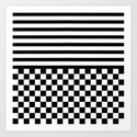 Stripes and Squares Art Print