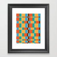 Color Patterns Framed Art Print