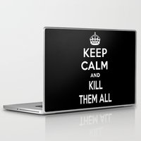 keep calm Laptop & iPad Skins featuring Keep Calm by Lunaramour