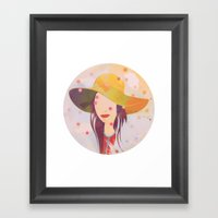 Picture Disc Framed Art Print