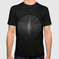 Waterfall (The Unknown) Mens Fitted Tee Tri-Black SMALL