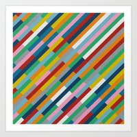 Bricks Rotate 45 Art Print