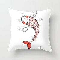 Carp Throw Pillow