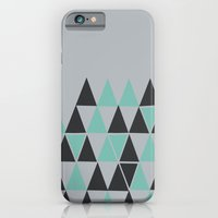 iPhone Cases featuring Mint On Silver by Bakmann Art