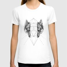 Geometry Within  Womens Fitted Tee White LARGE