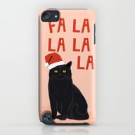 Black Cat Cute Fa La La … iPod touch Slim Case