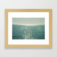 Pure magic of the sea Framed Art Print