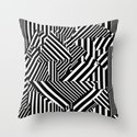 Dazzle Camo #01 - Black & White Throw Pillow