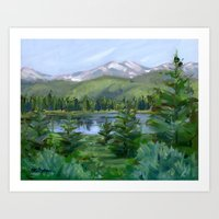 Echo Mountain Lake Art Print