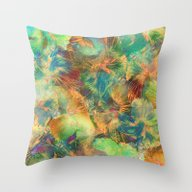 Hibiscus Trumpets #1 Throw Pillow