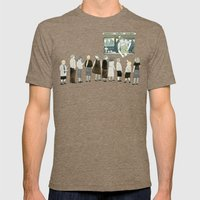 Ice Cream Queue Mens Fitted Tee Tri-Coffee SMALL