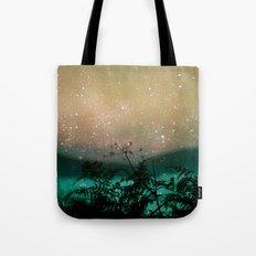 Night Sky Flowers Tote Bag