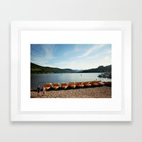 Bavarian Lake Framed Art Print