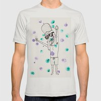 Party Time! Mens Fitted Tee Silver SMALL