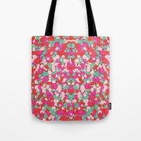 Chaotic Circles Pattern Tote Bag