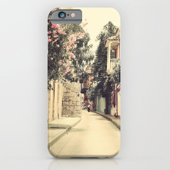 Just like a dream street (Retro and Vintage Urban, architecture photography) iPhone & iPod Case