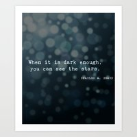 quotes Art Prints featuring Quotes by Kayla Phan