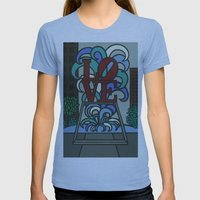 pop LOVE park Womens Fitted Tee Athletic Blue SMALL