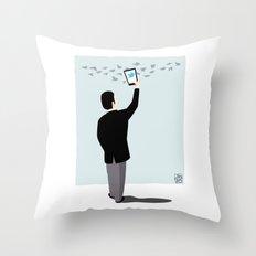 Serial Twitter Throw Pillow