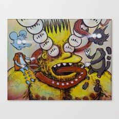 Bart Taking That Trip Canvas Print