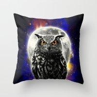 'The Watcher' Throw Pillow
