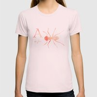 A Is For Ant; Womens Fitted Tee Light Pink SMALL
