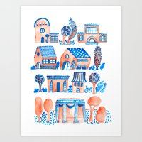 Quaint Village Art Print