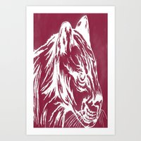 red cougar Art Print