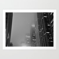 City In The Fog Art Print