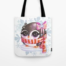 Snowy penguin  Tote Bag