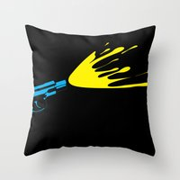 CMYKill Throw Pillow