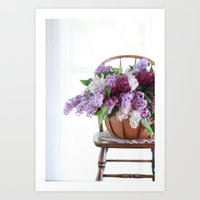 Bouquet of Beautiful - Lilacs  Art Print